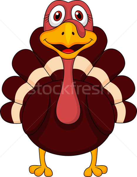 Stock photo: Cute turkey cartoon