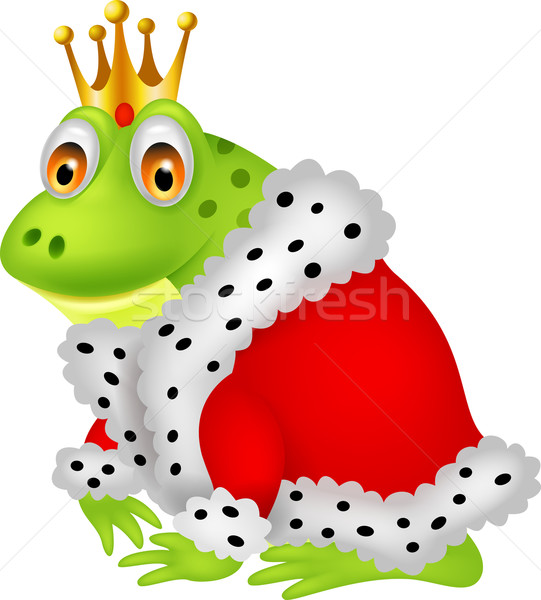 The frog king on a white background Stock photo © tigatelu