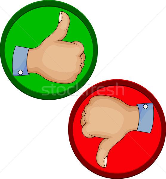 Kézmozdulat ahogy hüvelykujj felfelé ikon üzlet Stock fotó © tigatelu