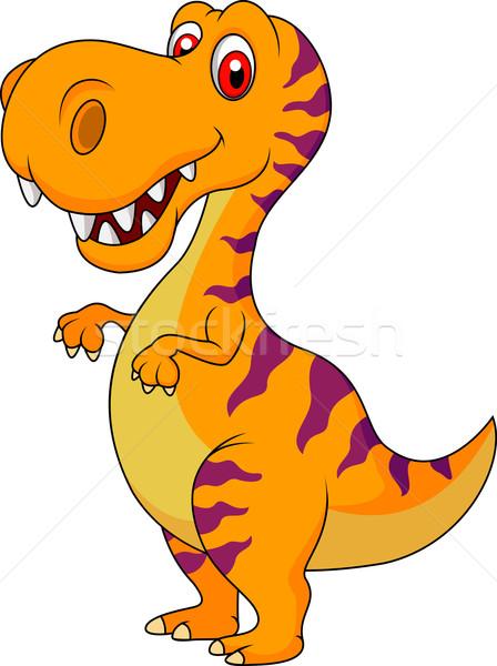 Cute Dinosaur Cartoon Vector Illustration C Teguh Mujiono