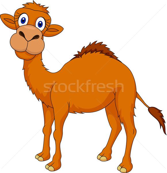 Sevimli deve karikatür beyaz gülümseme eğlence Stok fotoğraf © tigatelu