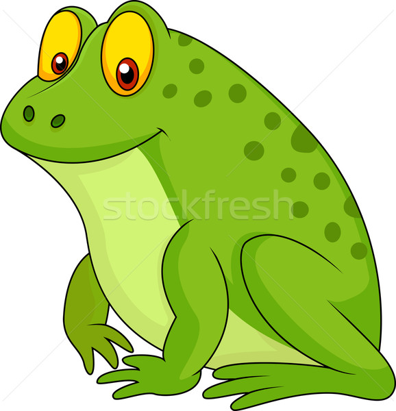 Cute frog cartoon Stock photo © tigatelu