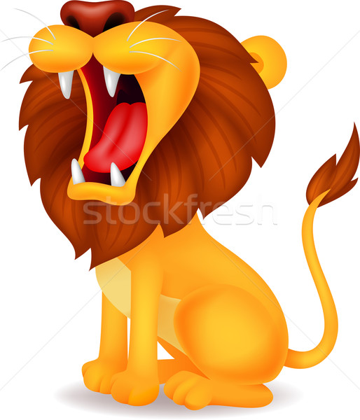 Lion roaring  Stock photo © tigatelu