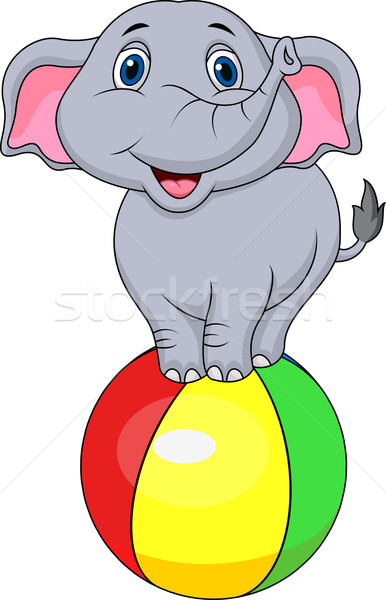 かわいい サーカス 象 漫画 赤ちゃん 子供 ストックフォト © tigatelu