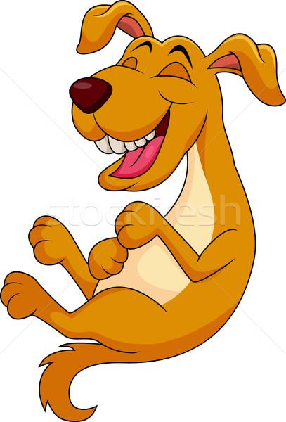 Bonitinho cão desenho animado risonho rir animal Foto stock © tigatelu