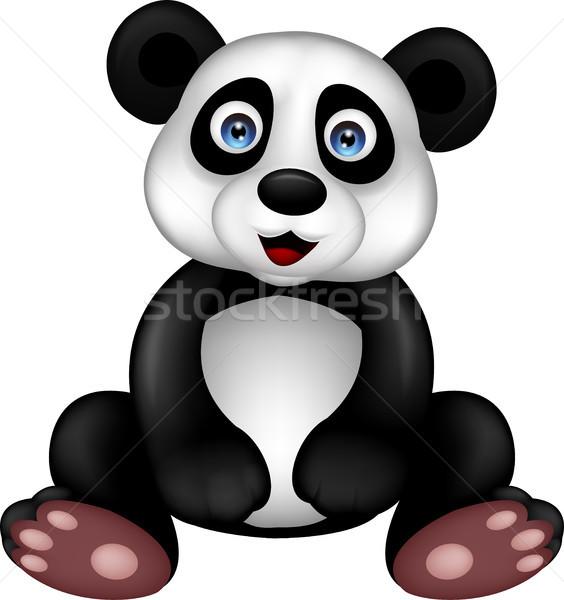 Stock photo: Panda cartoon