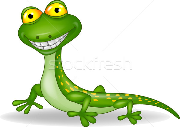 Funny lizard cartoon Stock photo © tigatelu