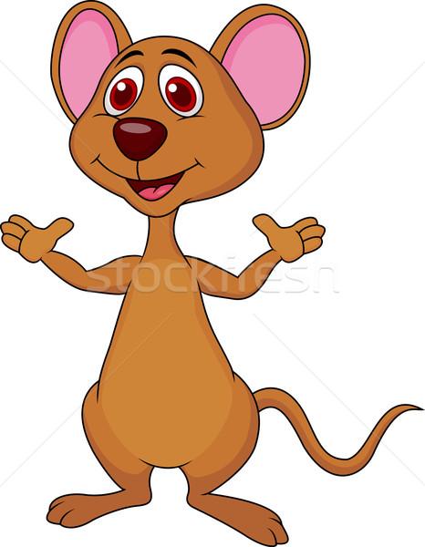 Cute мыши Cartoon стороны улыбка Сток-фото © tigatelu