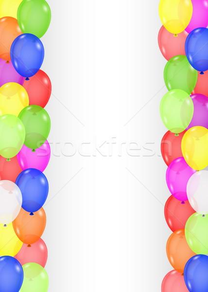 Kleurrijk ballon partij achtergrond kunst leuk Stockfoto © tigatelu