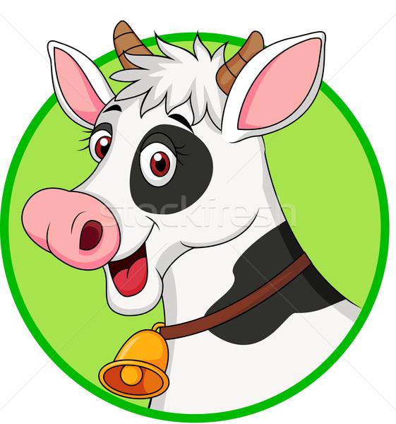 Cute cow cartoon mascot Stock photo © tigatelu