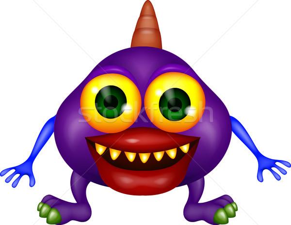 Purple monster cartoon Stock photo © tigatelu