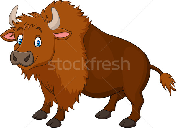 Cartoon happy bison Stock photo © tigatelu