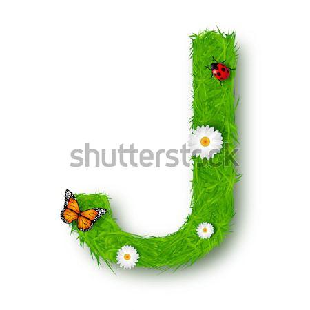 feet for speech made of green grass Stock photo © tigatelu