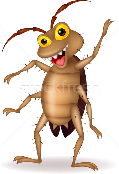 Cockroach cartoon waving Stock photo © tigatelu