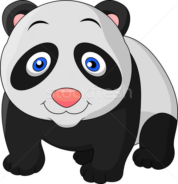 Aranyos baba panda rajz művészet jókedv Stock fotó © tigatelu