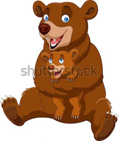 Stock fotó: Medve · rajz · szeretet · terv · festmény · fehér