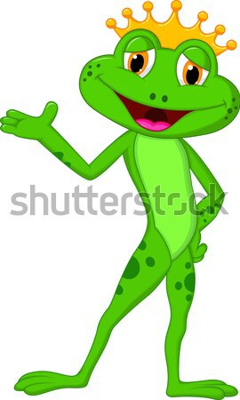 Cartoon adorable frog holding blank sign  Stock photo © tigatelu