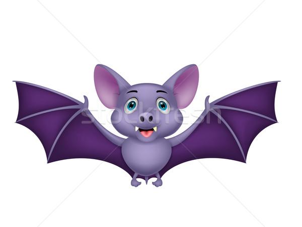 Bonitinho bat desenho animado voador voar animal Foto stock © tigatelu