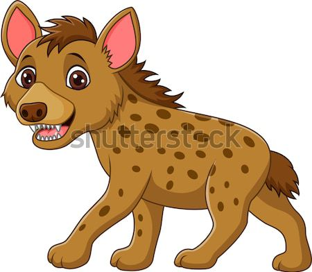 Hyäne Karikatur african cute Zoo isoliert Stock foto © tigatelu
