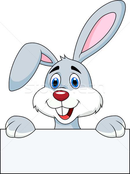 Zdjęcia stock: Królik · cartoon · Wielkanoc · uśmiech · dzieci
