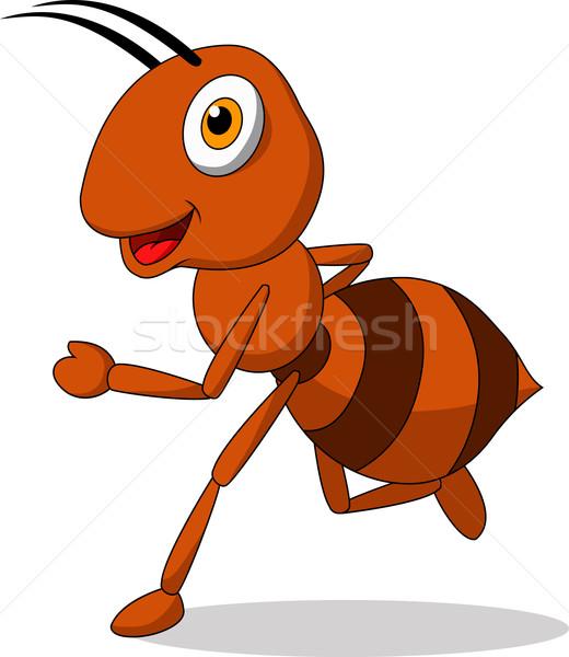 かわいい アリ を実行して 孤立した 白 手 ストックフォト © tigatelu