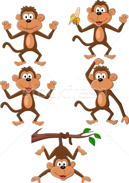 Monkey cartoon Stock photo © tigatelu