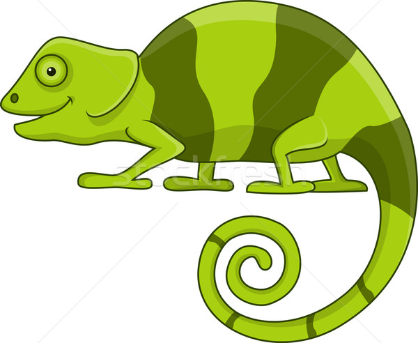 Camaleón Cartoon ilustración feliz arte verde Foto stock © tigatelu