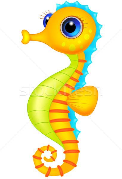 Cute seahorse cartoon Stock photo © tigatelu