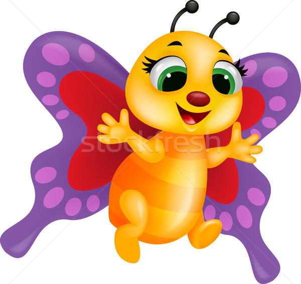 Funny butterfly cartoon Stock photo © tigatelu