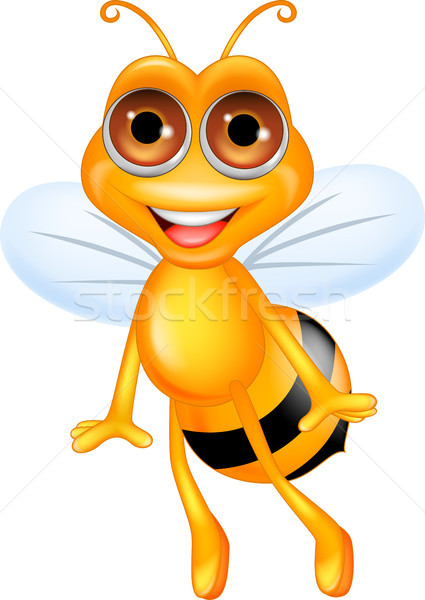 Bee cartoon flying Stock photo © tigatelu