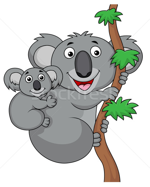 Mother And Baby Koala Cartoon Stock photo © tigatelu