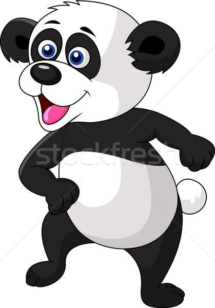 Cute panda taniec baby twarz szczęśliwy Zdjęcia stock © tigatelu