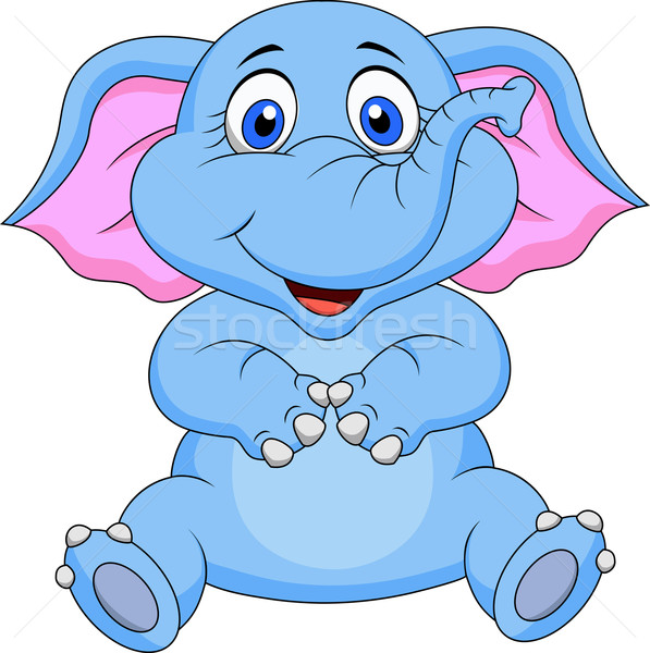 Bonitinho bebê elefante desenho animado diversão África Foto stock © tigatelu
