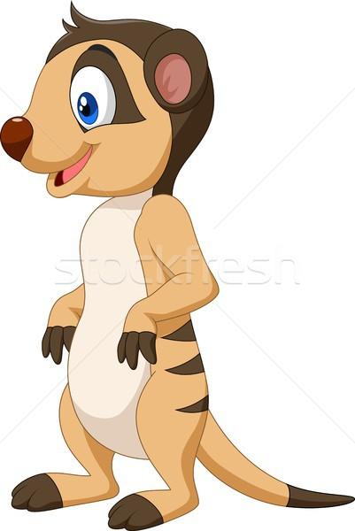 Cartoon счастливым улыбка пустыне искусства джунгли Сток-фото © tigatelu