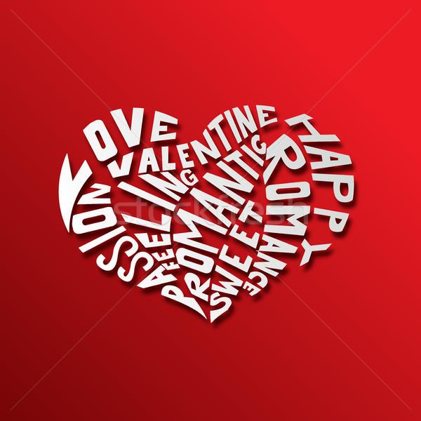 Hearth love concept background Stock photo © tigatelu
