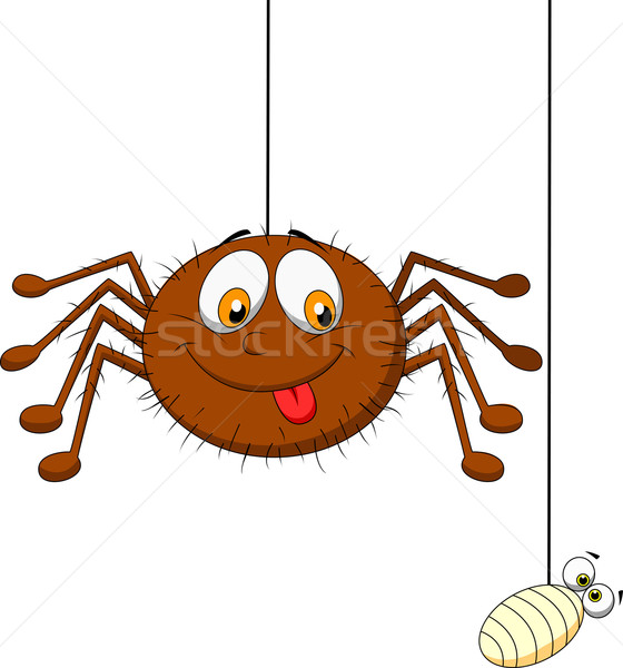 örümcek Beyaz Web Akşam Yemeği Boyama Vektör