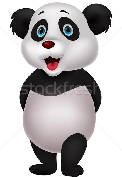 Cute panda cartoon Stock photo © tigatelu