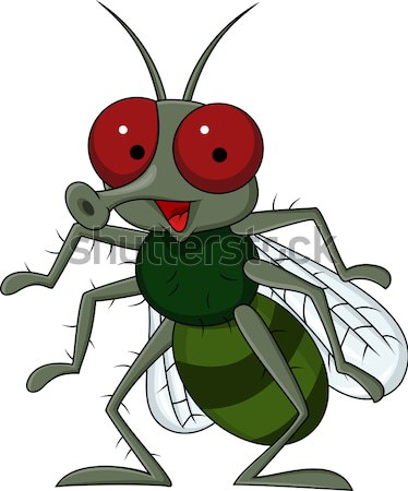 Angry mosquito cartoon Stock photo © tigatelu