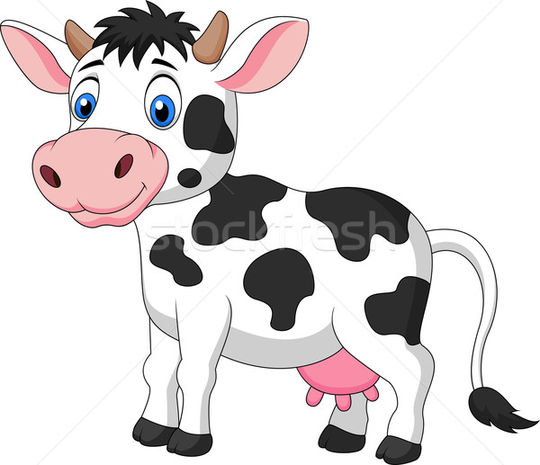Cute cow cartoon  Stock photo © tigatelu