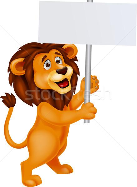 Сток-фото: лев · Cartoon · ребенка · кошки · Африка