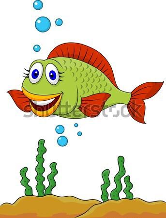 Peixe desenho animado natureza fundo subaquático animal Foto stock © tigatelu