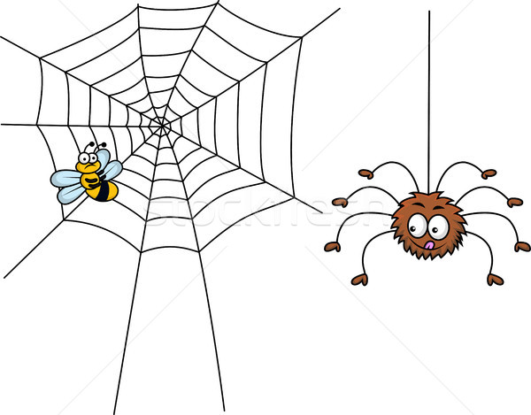 Spider cartoon prepare for lunch Stock photo © tigatelu
