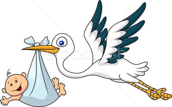 Stork and baby Stock photo © tigatelu