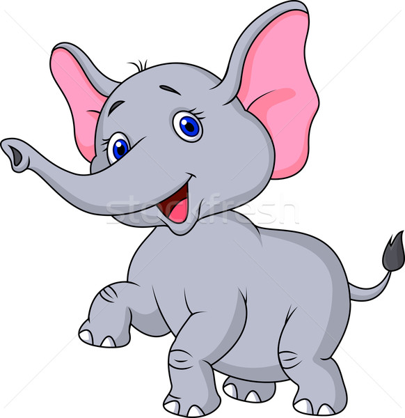 Cute elephant cartoon  Stock photo © tigatelu