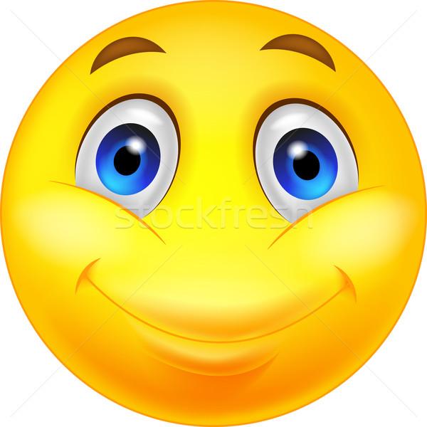 Gelukkig emoticon gezicht glimlach lachen Stockfoto © tigatelu