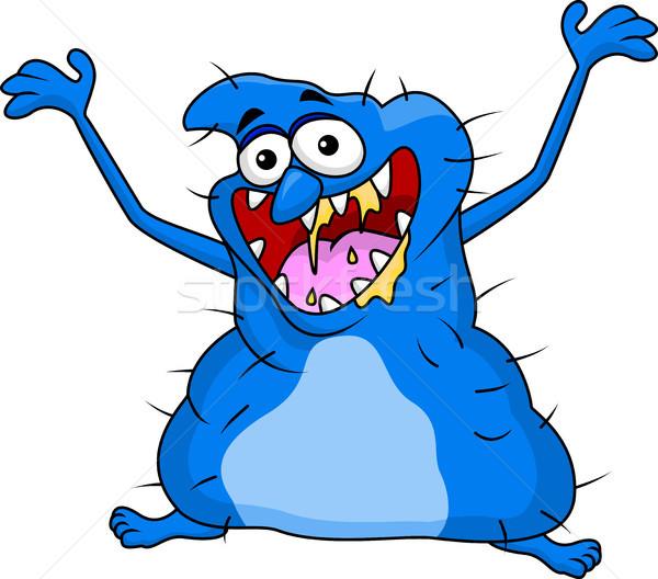 Lelijk monster cartoon kinderen kind ontwerp Stockfoto © tigatelu