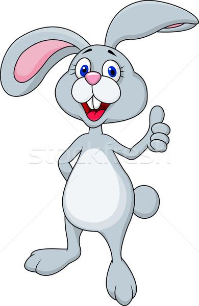 happy rabbit cartoon vector illustration  u00a9 teguh mujiono bunnies clipart free clipart bunnies kissing
