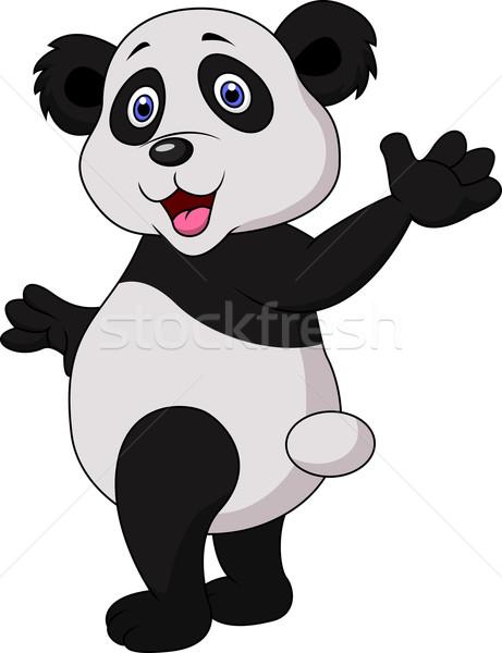 Sevimli panda karikatür el bebek Stok fotoğraf © tigatelu