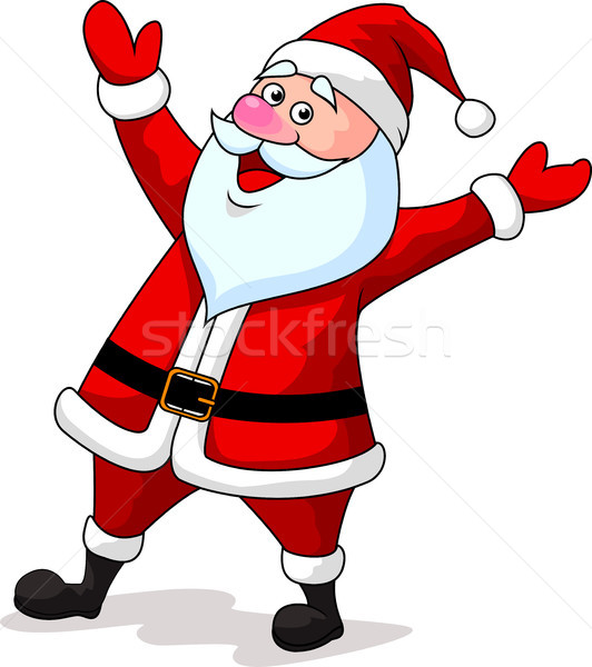 Santa cartoon waving Stock photo © tigatelu