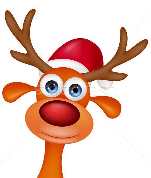 Deer head cartoon Stock photo © tigatelu